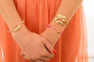 Image of Gold swallow bracelet
