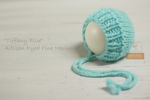"Image of Ribbed Knit Bonnet - ""Aqua Blue"""