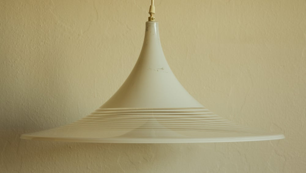 Image of White Fluted Lamp Shade - Large
