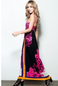 Image of Printed Maxi Dress
