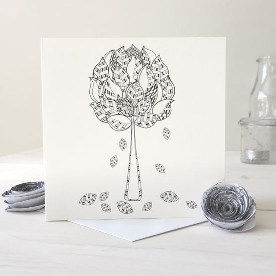 Image of Enchanted Forest Motif Card