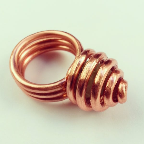 Image of Copper Crystal Hive Rings