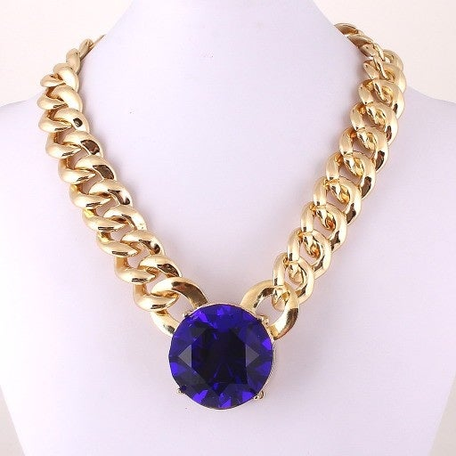 Image of Crystal Stone Link Necklace