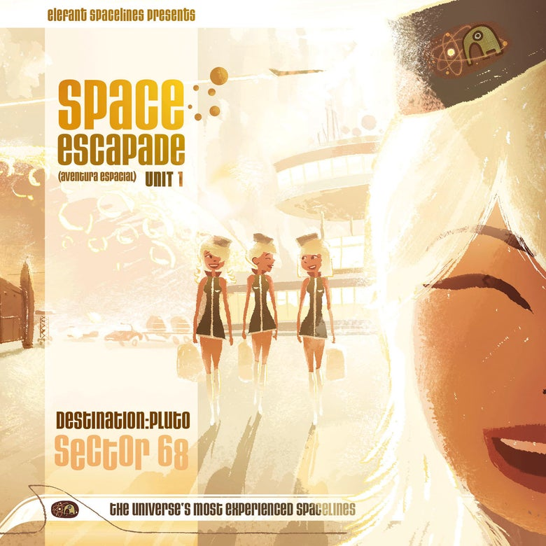 Image of VARIOUS ARTISTS - Space Escapade Unit 1 - Destination: Pluto Sector 68 (Digipak 2 CD compilation)