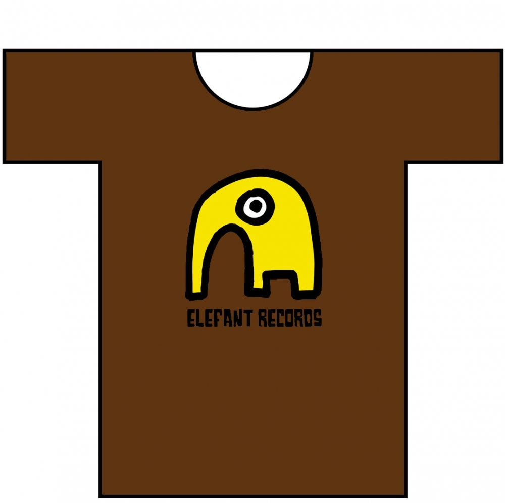 Image of ELEFANT RECORDS T-SHIRT: CHOCOLATE BROWN (Various sizes)