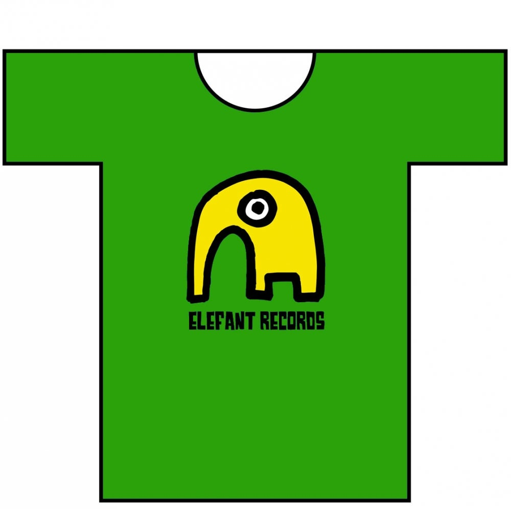 Image of ELEFANT RECORDS T-SHIRT: GREEN (Various sizes)