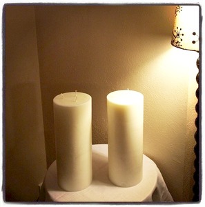 Image of Six Inch Diameter Candle You Select Height