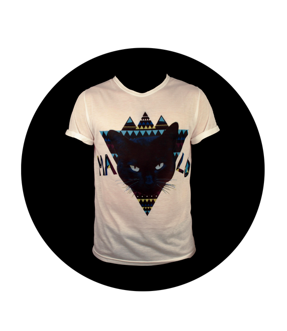 Image of MALO Cat T-shirt