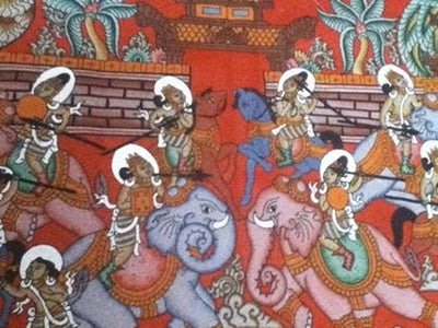 Image of Burmese sand art Painting
