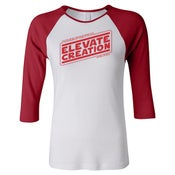 Image of Elevate Creation Strikes Back - Ladies' Baseball T-shirt
