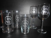 Image of Hand-Etched Glasswear