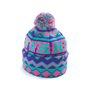 Image of IN NEED POMPOM - PURPLE/MAGENTA/TURQUOISE