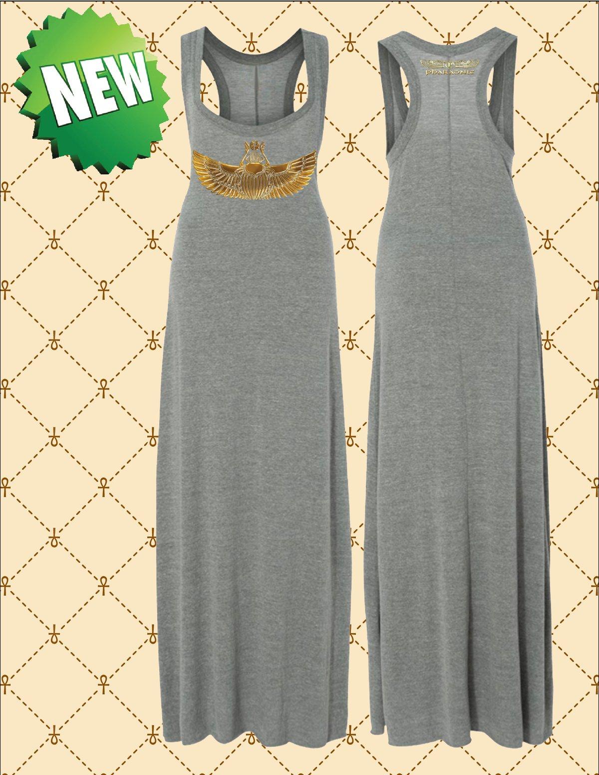 Image of WOMEN'S GOLD FOIL KHEPHERA MAXI DRESS