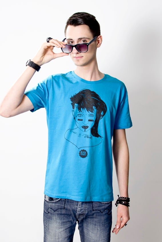 Image of Punk - Tee-shirt col rond homme