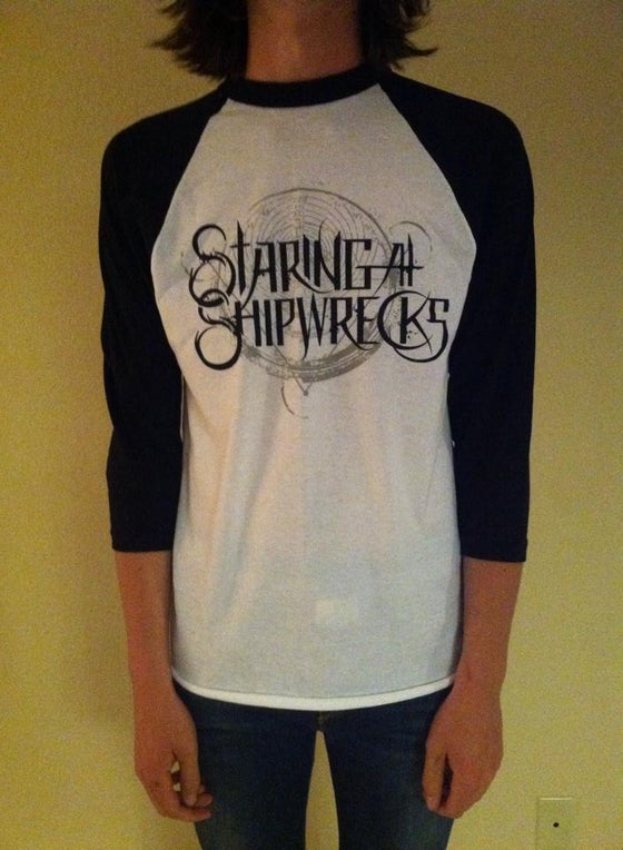 Image of Staring at Shipwrecks Logo Baseball Tee