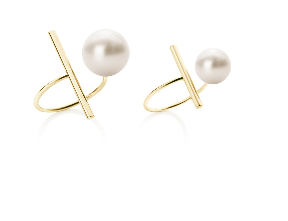 Image of Big Pearl ring 14 carat gold