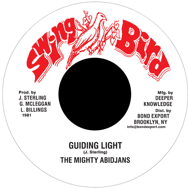 "Image of Mighty Abidjans - Guiding Light 7"" (Swing Bird)"