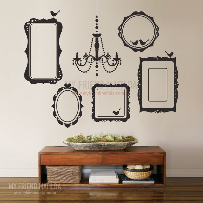 Vinyl Wall Sticker Decal Art Collection Of Picture Frames And