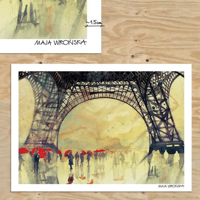 Image of Winter in Paris print