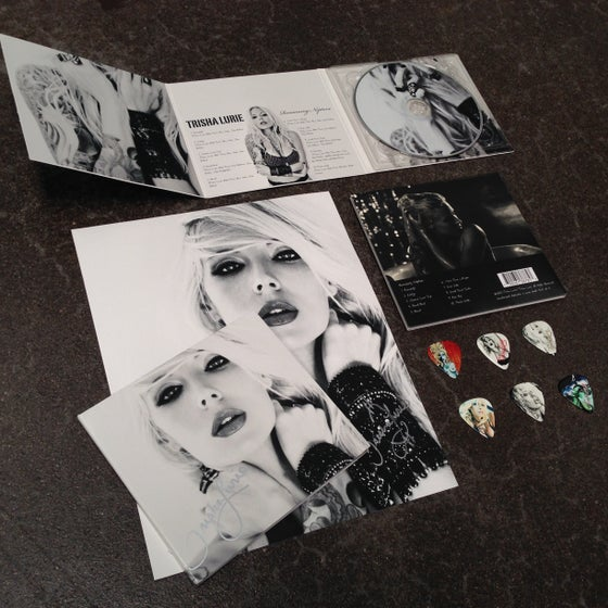 "Image of Trisha Lurie's album ""Romancing Neptune"" limited edition deluxe signed album/merch package"