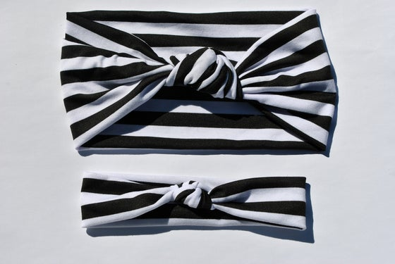 Image of Miss Stripe Knotted Turban