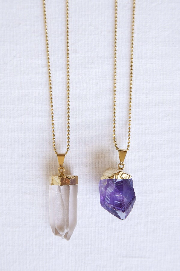 Image of Crystal Chunk Necklace//