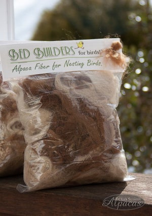 Image of Bird Nesting Materials Alpaca Fiber - Pre Filled Suet Cage