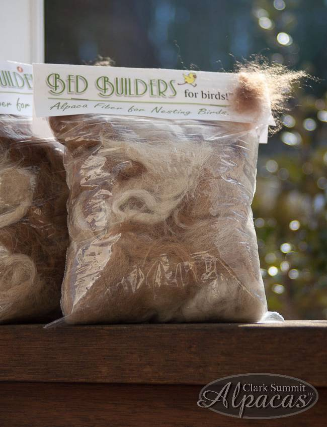 Image of Bird Nesting Materials - Our Alpaca Fiber!