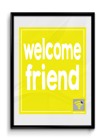 "Image of Yellow ""Welcome Friend"" WyFlyr"