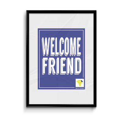"Image of Blue ""Welcome Friend"" WiFlyr"