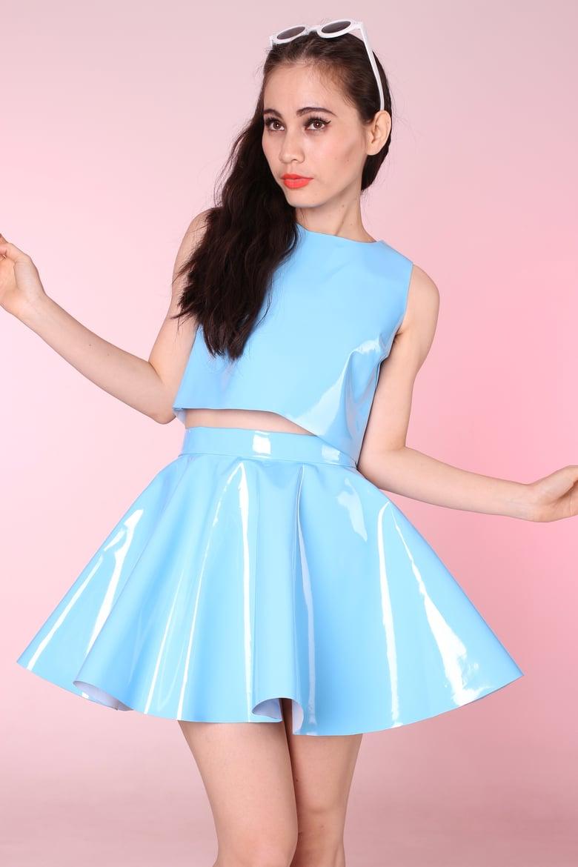 Image of Made To Order - Daniela Blue PVC Set
