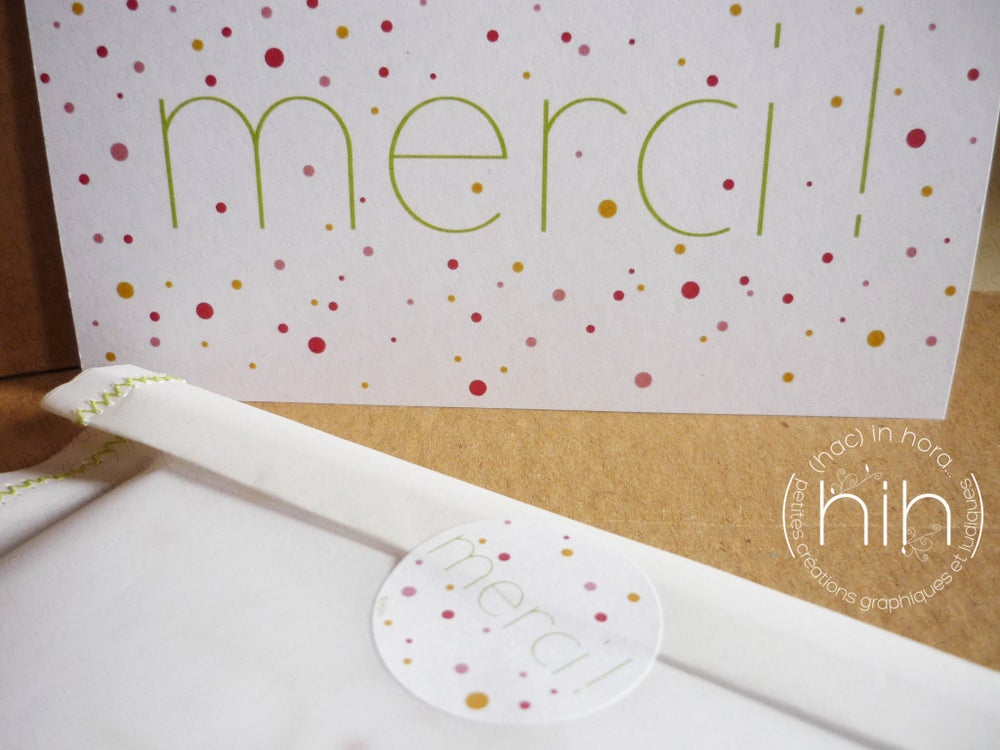 "Image of 2 cartes ∴confettis∴ ""merci!"""