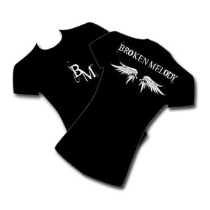 "Image of Broken Melody Female T-Shirt ""Angel Wings"""