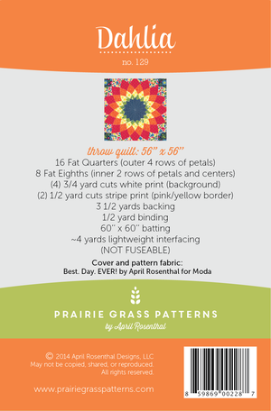 Image of Dahlia: Quilting Pattern #129