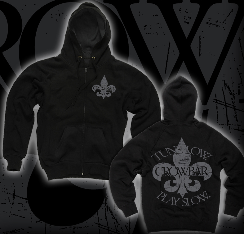 "Image of CROWBAR ""Tune Low"" ZIP UP HOODED SWEATSHIRT"