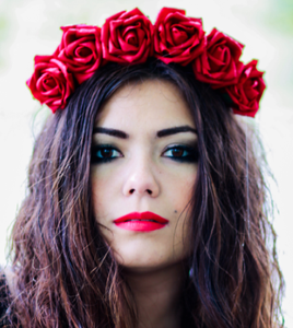 Image of Wild Ruby - Red Wild Flower Crown Headband