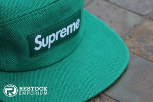 Image of Supreme - Green Canvas Camp Cap