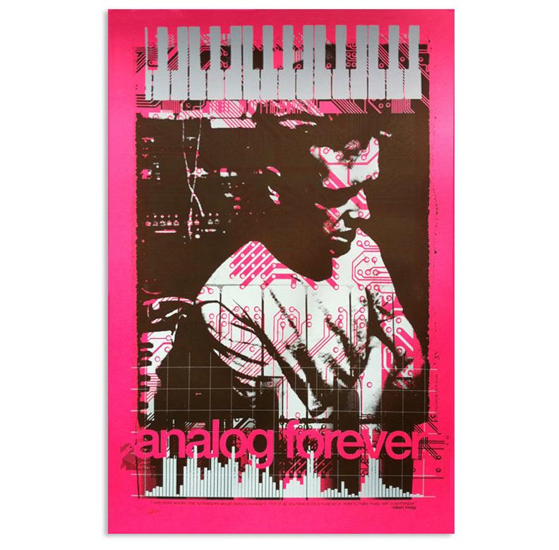 """""""Analog Forever"""" art print inspired by Bob Moog"""