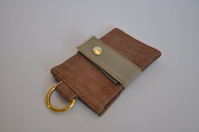 Image of Brown Selvedge Denim Wallet