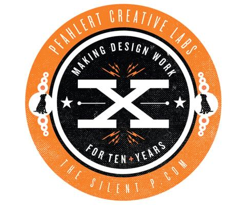 """The Silent P """"Making Design Work"""" Vinyl Sticker"""