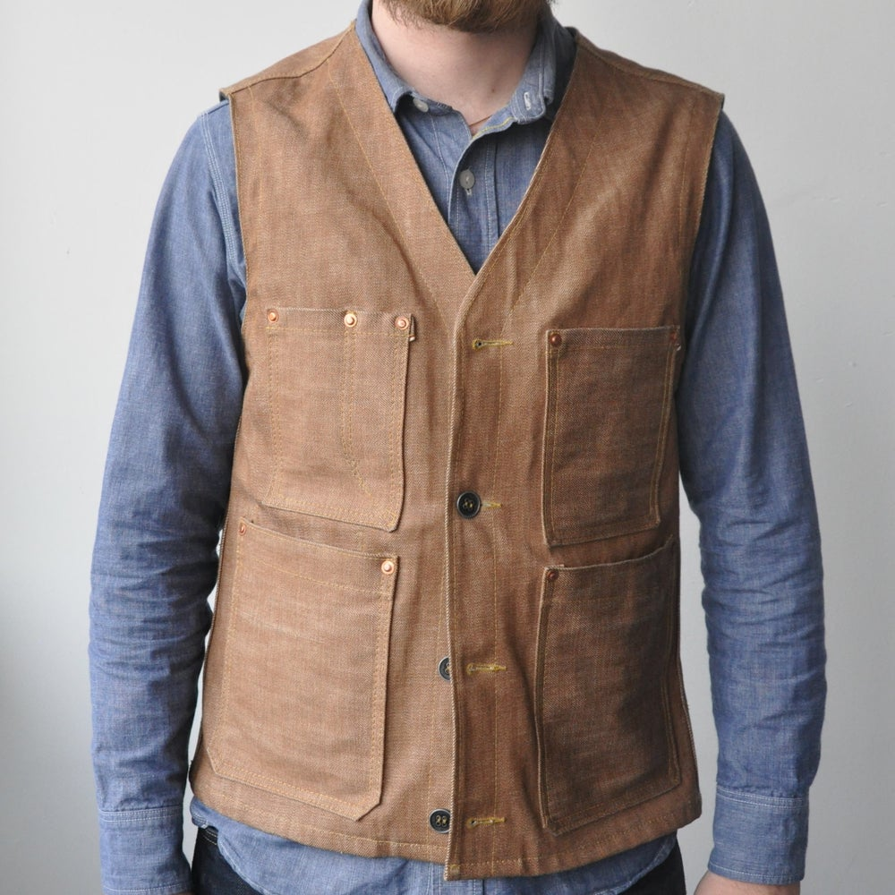Image of Selvedge Denim Work Vest