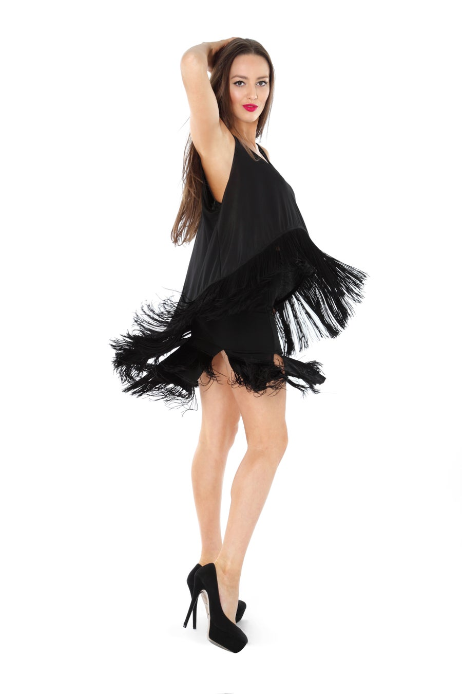 Image of Panelled Flapper Skirt J8689 Dancewear latin ballroom