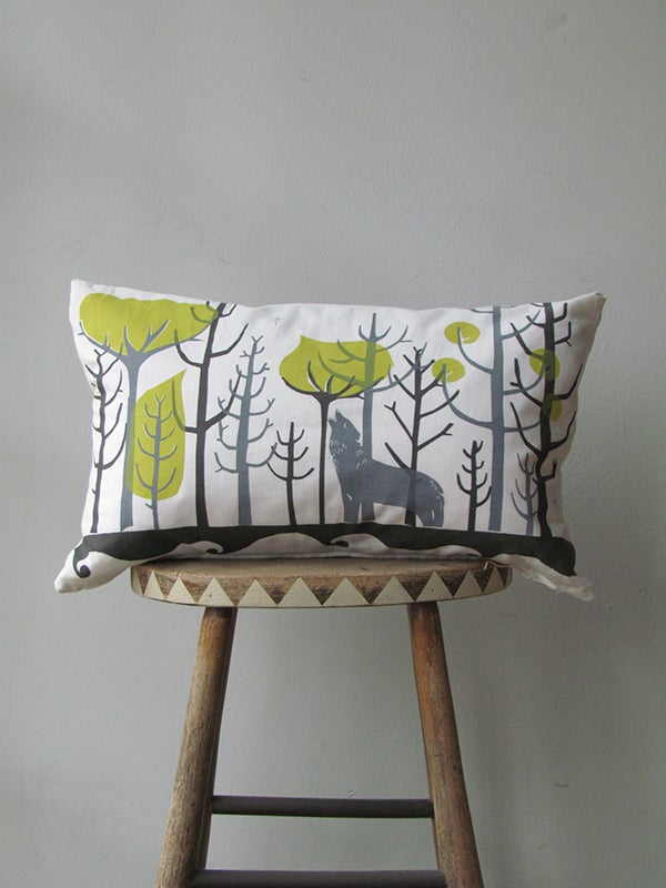 Image of WOLFGANG IN THE WOODS CUSHION #9