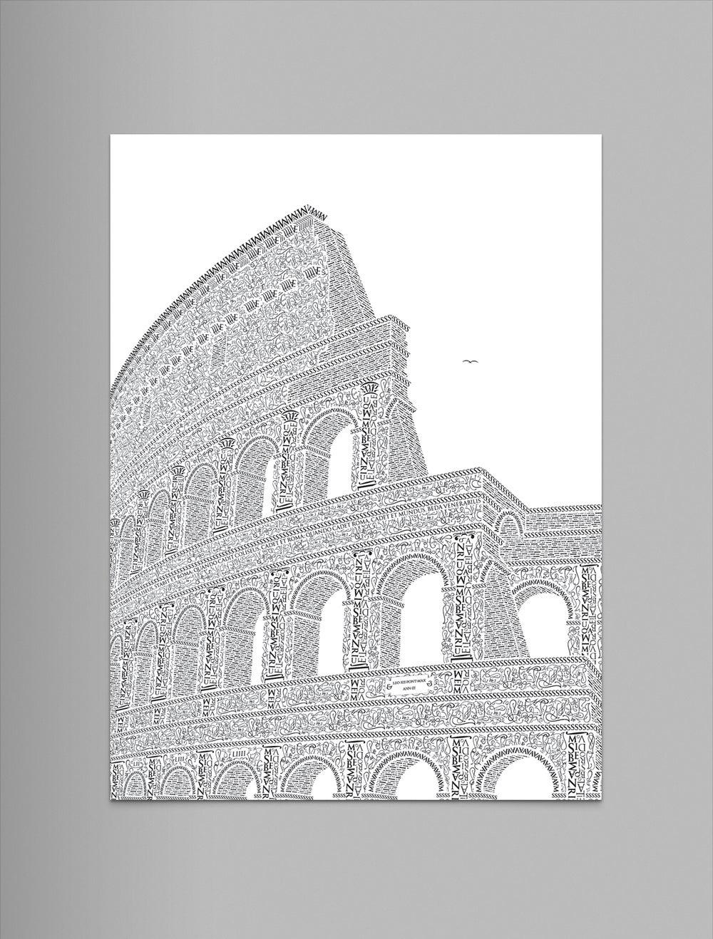 """Image of Colosseo 9""""x12"""" Letterpress Print (Pearl)"""