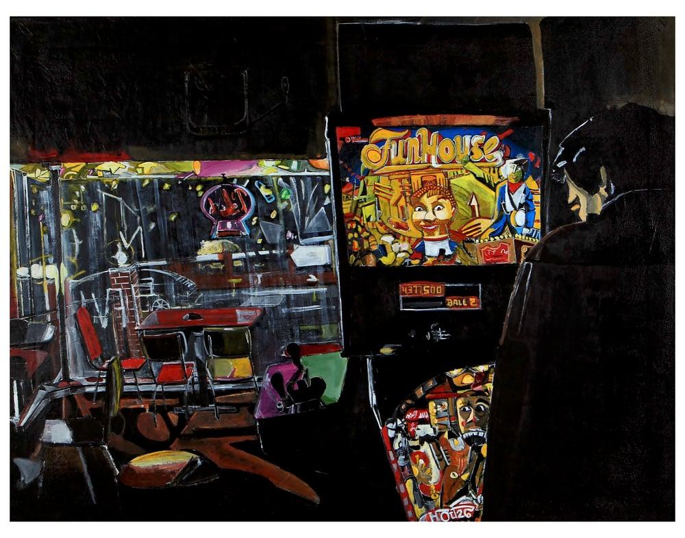 Image of Pinball at CBGBs (STL) 11x14 inch print