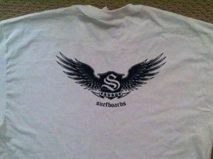 Image of Savage Surfboards Wings Logo T Shirt