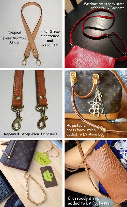 Image of Custom Replacement Straps & Handles for Louis Vuitton (LV) Handbags/Purses/Bags