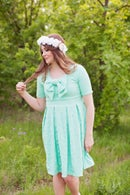 Image 3 of the EMALINE bow dress pattern
