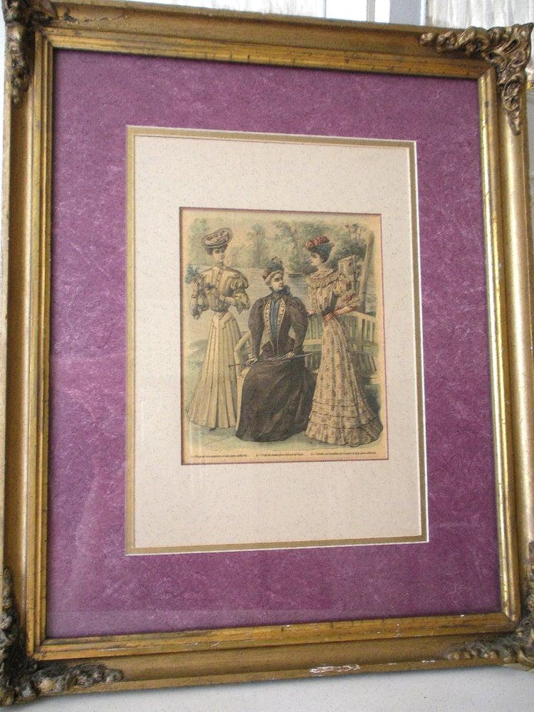 Image of Antique Fashion Print
