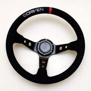 Image of Driven 13.5 inch Suede Steering Wheel – Deep Dish